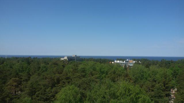 Pohled na moře z Dzintaru Mežaparks