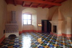 Interiéry hradu Bauska