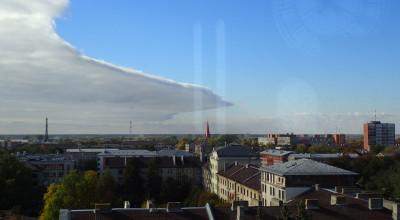 Pohled na Jelgavu z bývalé kostelní věže