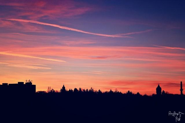 Nádherný západ na Štěpána nad Prahou