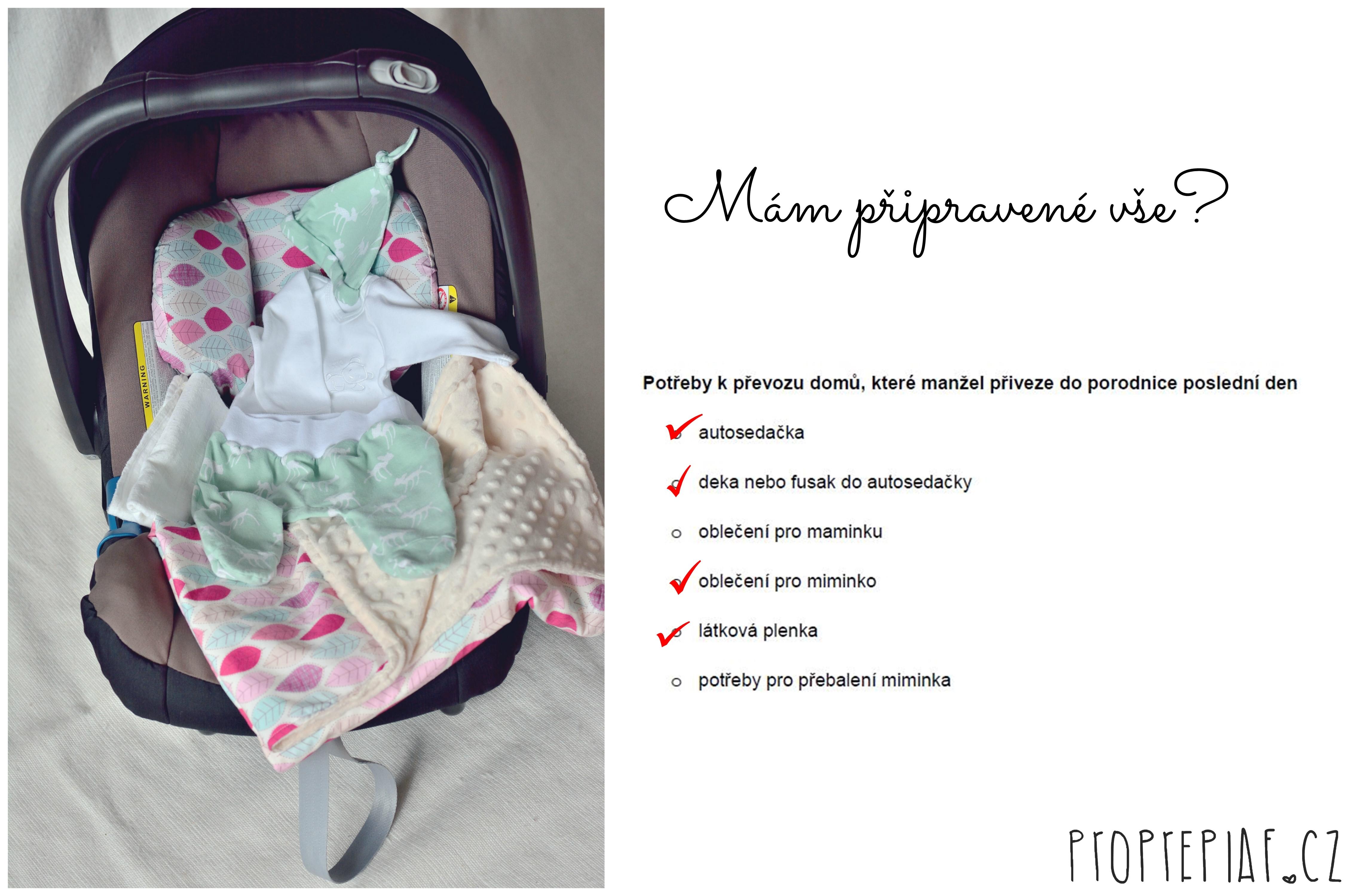 Příprava na miminko: taška do porodnice