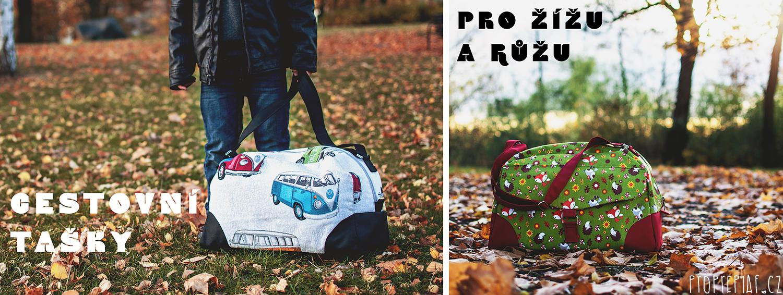 Žíža a Růža na cestách: cestovní tašky pro naše děti