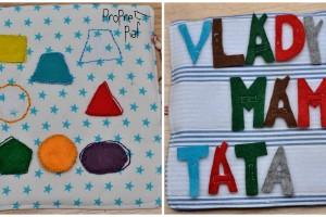 Poznávání tvarů a barev a učíme se písmenka.